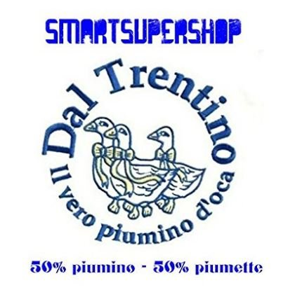 Smartsupershop Piumino Oca Matrimoniale 4 Stagioni in Piuma d' Oca Trentino Composizione : 50% Piumino - 50% Piuma D'Oca -