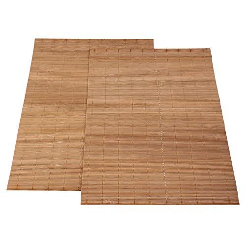 Yibuy Bambus-Tischunterlagen mit Wärmedämmung, rechteckig, 43 x 30 cm, 2 Stück