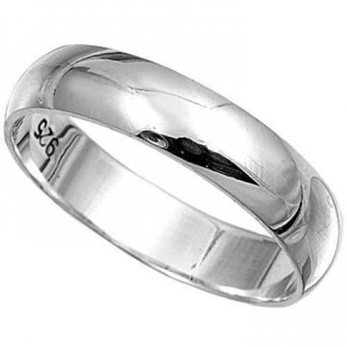 Sterling Silver 6mm Simple Wedding Band Ring Sizes G - Z (P)