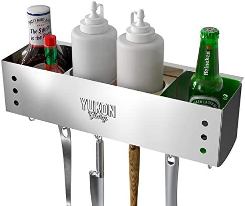 Yukon Glory Stainless Steel Griddle and BBQ Caddy Designed for Standard 28 36 Blackstone Griddles product image