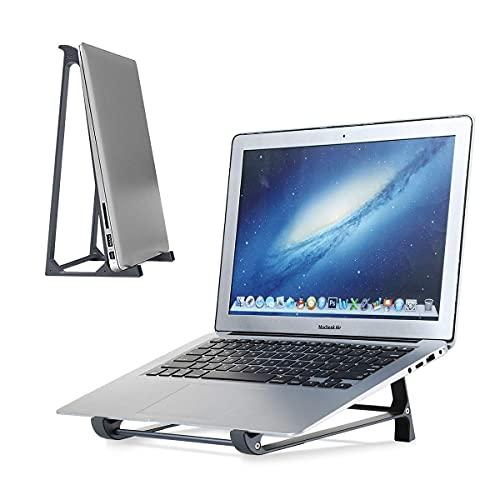 AWJ Laptop Stand,Equipo portátil de refrigeración Titular de Escritorio,Soporte portátil Estable de Aluminio con Antideslizante de Silicona del cojín para el Ordenador portát