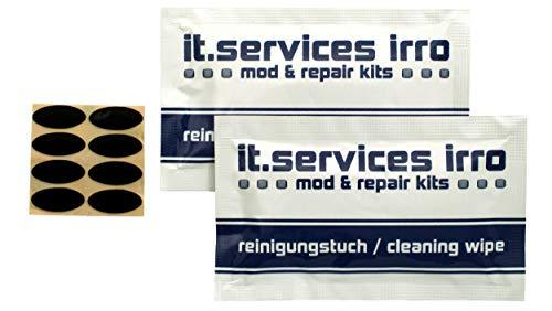 IT-Services Irro Juego de 2 pies deslizantes para ratón IntelliMouse Explorer/IE 3.0/Zowie IO1.1 ZG/G-Wolves Skoll/HATI, incluye 2 almohadillas de limpieza