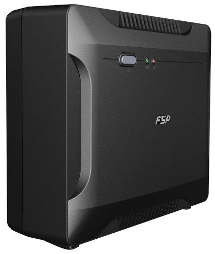 FSP PPF3600210 Fortron Nano 600 USV 600VA/360W, 230V/50HZ, Offline, 1x12V 7.5AH, 2xSCHUKO Schwarz