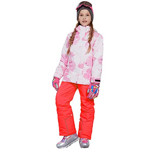 Combinaisons De Ski Pour Enfants, Veste Soft Shell Pour Filles Avec Un Pantalon De Plein Air Coupe-Vent Imperméable Vêtements De Skisnowboard Pour Le Ski Camping Randonnée Sportive,B,146/152158/164