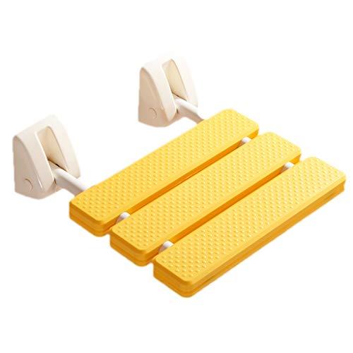 Glücklich zusammen Badezimmer klappbar hocker dusche Sitz dusche wc Slip Bad Wand hängen klappstuhl ändern Schuhe Sitz hocker (Color : Yellow)