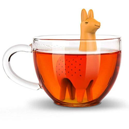 gerFogoo 2 STÜCKE Silikon-Tee-Infuser Netter Alpaka loser Teeblattfilter Teeballsieb Wiederverwendbarer Loseblatt-Teebeutel Long Handle Tea Steeper
