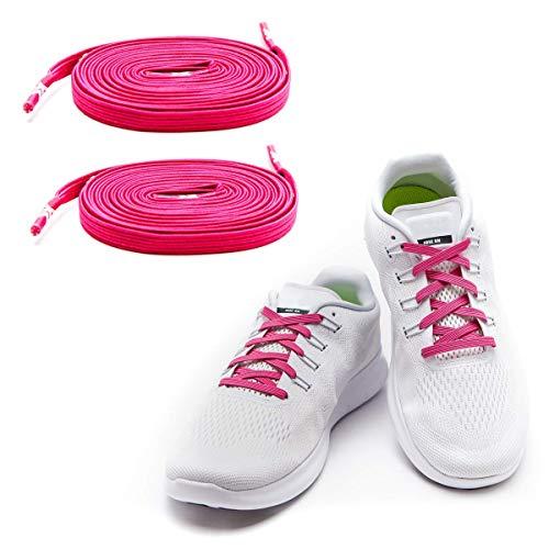 MAXX laces Flache elastische Schnürsenkel mit Einstellbarer Spannung Schuhbänder ohne Binden komfortable Schuhbinden einfach zu bedienen...