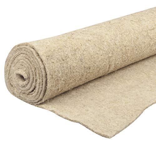 Windhager Naturfaser-Unkrautmatte ÖKO, natürliche Mulch-Matte, Unkrautstopp, Unkrautvlies, Mulchvlies, 4 x 0,5m, 07507, beige