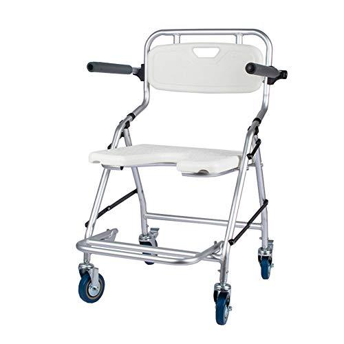 CHEN. Duschhocker, Duschhocker mit Rollen, Rollstuhl, Dusche, Duschstuhl, älter Behinderten, Dusche mit Armlehnen