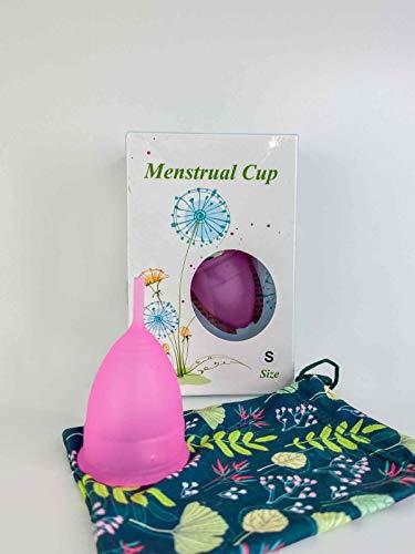 Copa menstrual Inrop Recomendada para nuevas usuarias con Bolsa de regalo e Instrucciones en español  Talla S y Triple certificado de calidad