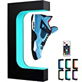 X-FLOAT Levitating Shoe Display Floating Sneaker Stand with Color Changing LED Light (Black)