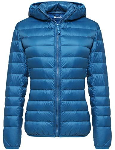 Wantdo Women's Packable Winter Warm Down Jacket Light Coat Acid Blue Medium