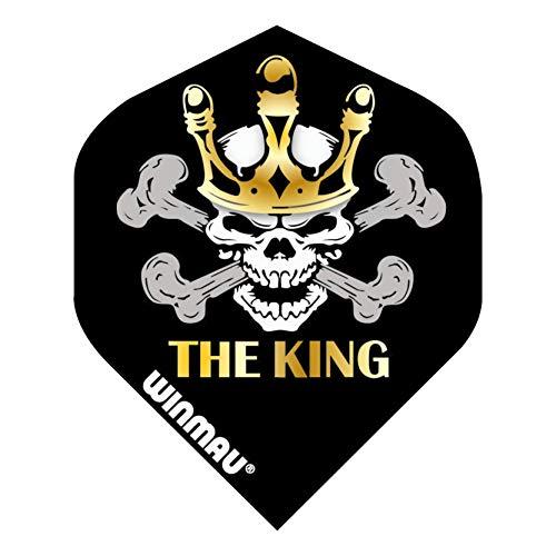 "WINMAU Player Mega Standard Black Mervyn King ""The King"" Dart Flights - 1 Satz pro Packung (3 Flights insgesamt)"