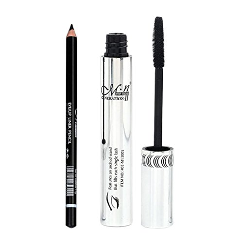 MagiDeal Imperméables Mascara Noir de Curling / Volume de Cils + Crayon Eye-liner Eyeliner Noir - Outils de Yeux Maquillage