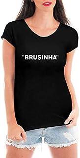 Camiseta Criativa Urbana Loucas Por Brusinha Blusa Feminina Preta
