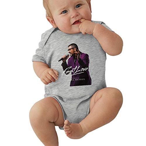 YBRB George Michael Body bébé Manches Courtes en Coton T-Shirt 0-24 Mois Unisexe
