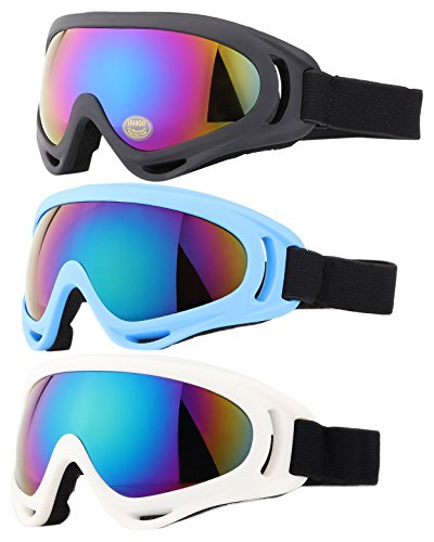 Ski Goggles, Yidomto Pack of 3 Snowboard Goggles for...