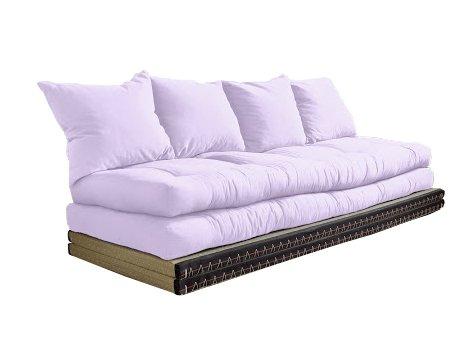 Vivere Zen - Divano Letto Futon - Kanto Double - 2 futon 70x200 + 2 Tatami 80x200 cm - 2 Cuscini - Colore Classe 2 55x50 cm