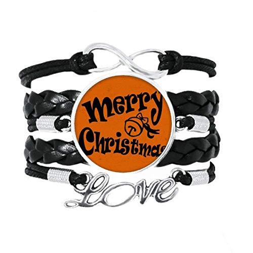 """DIYthinker Armband mit Schriftzug """"Frohe Weihnachten"""", Leder, Armband"""