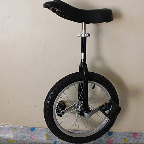 WYN Bicicleta de una Rueda Anillos de Aluminio Carretilla Rueda de Hombro Bicicleta de una Sola Rueda Bicicleta de una Rueda, Negro, 20 Pulgadas