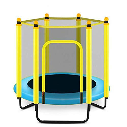 Tll-mm Recreational Trampolines, outdoor with Springs System Mini Trampoline for Kids Trainer round for Indoor/Garden/Workout Cardio (Color : Blue, Size : 48in/120cm)