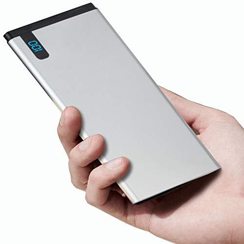 CDBK Power Bank Ultradelgado Batería Externa 10000Mah Ultra Capacidad Cargador Portátil Móvil con Pantalla Digital LED Batteria Portatile Alta Velocidad Cargador para Smartphones Tabletas Y Más