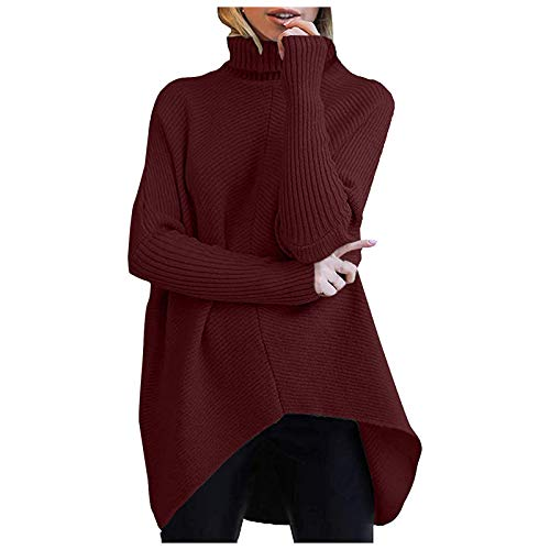 BOLANQ Cute Long Sleeve T Shirt Casual Blouse Tops Crewneck Sweatshirt Wine