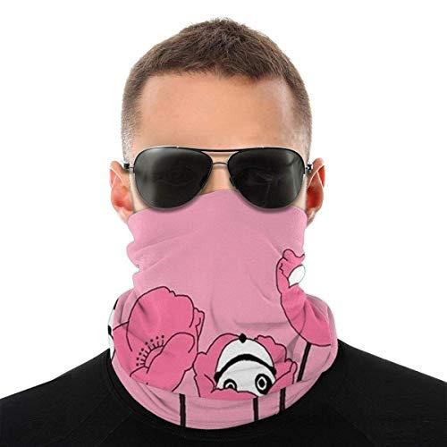 qulia Bandana Gesichtsbedeckung Gesicht Gesicht Schal Hals Gamasche Stirnband Halswärmer Kopfbedeckungen Kopfbedeckungen Sommer Dünne Atmungsaktive Laufende Sturmhaube Netter rosa Panda