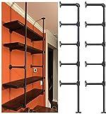 Industrial Retro Wall Mount Iron Pipe Shelf,DIY Open Bookshelf,Hung Bracket,Home Improvement Kitchen Shelves,Tool Utility Shelves, Office Shelves, Bookshelves and bookcases (2Pcs)