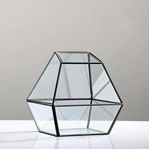 Unibest Deko Mini Gewächshaus Glasterrarium geometrisch Diamant