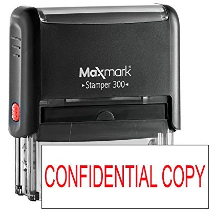 MaxMark One Line Self Inking Stamp - 3/4' x 1-7/8' - Customize Online, Many Font and Color Choices