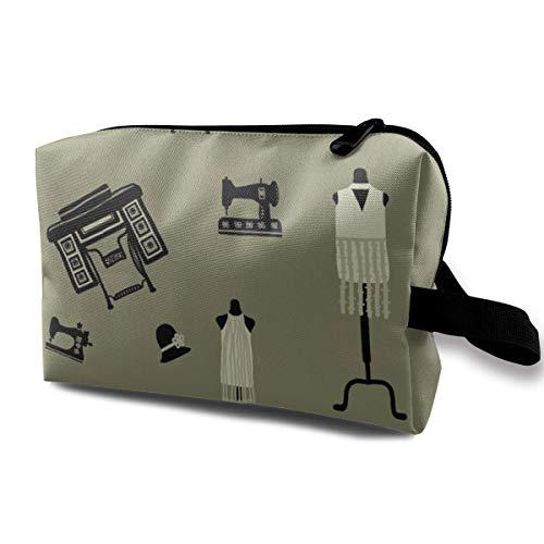 1920er Jahre Schnittmuster_7008 Kulturbeutel Kosmetiktasche Tragbarer Make-up-Beutel Reisebehang Organizer-Tasche für Frauen Mädchen 10x5x6,2 Zoll