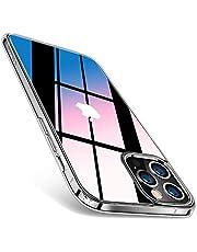 TORRAS 強化ガラス iPhone 12 用 ケース iPhone 12 Pro 用 ケース 全透明 ガラスケース 硬度9H 10倍黄変防止 TPUバンパー 薄型 ストラップホール付き 6.1インチ アイフォン 12Pro用 12用カバー クリア