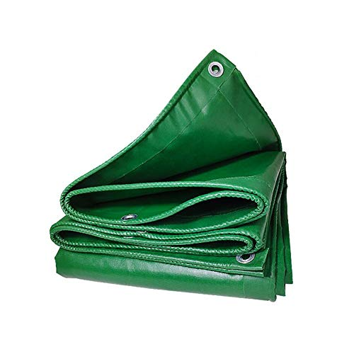 GAOAIHONG Zeltplanen PVC Regenfestes Tuch Draussen Verdicken Wasserdicht Segeltuch Sonnenschutz Isolierung Wachstuch Lastwagen Plane (Color : Green, Size : 2.5x4m)