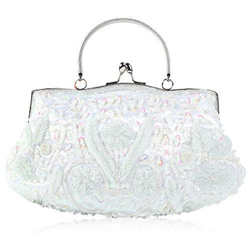 Polyester Material:This 1920s purse evening bag is made of high quality and special Polyester material, it has tiny glass beads floral design on surface. The evening clutch features a detachable wristlet. When you took it, elegant, shinny and modish ...