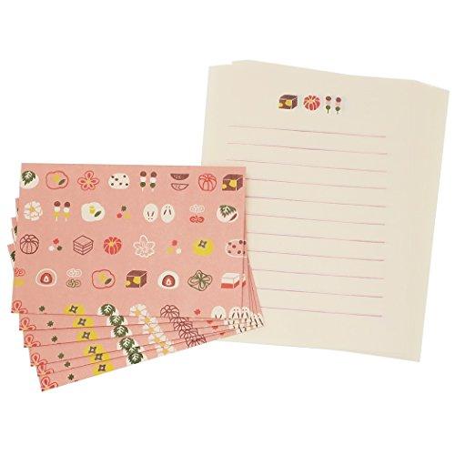 伊予和紙 ふわり[レターセット]封筒+便箋+シールセット/和菓子