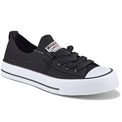 Womens Fashion Sneakers Slip On Shoes Knit Walk...