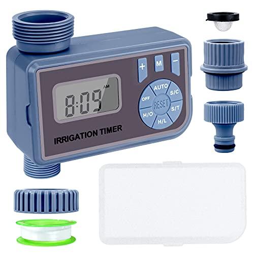 """Joyhoop Irrigatore Giardino Timer per Irrigazione a doppia modalità, Automatica Programmatore Centralina Irrigazione, IP65 impermeabile, Con schermo LED, può essere collegato con rubinetto da 3/4 """""""