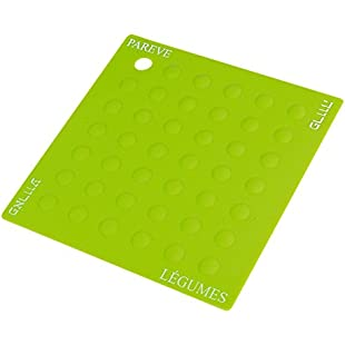Customer reviews Parve Green Silicone Potholder Trivet For Carrying and Placing Pots and Pans - Heat Resistant Table and Counter Protectors - Color Coded Kitchen Tools by The Kosher Cook:Eventmanager