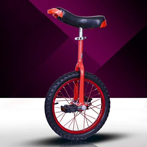 GAOYUY Monociclo, Monociclo Freestyle Professionale Unisex 16/18/20/24 Pollici Robusto Telaio in Acciaio al Manganese for Bambini E Adulti (Color : Red, Size : 18 Inches)