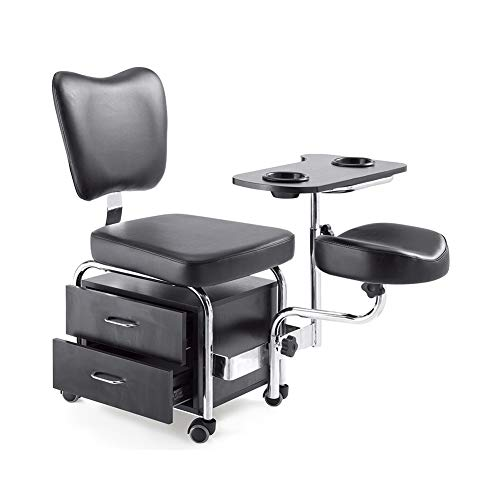 WANGXN Manicure Pedicure Nail Station Silla Beauty Table Escritorio Taburete SPA Cajones Pedicure Set