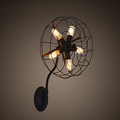 MEHE@ mode personnalité créatif Lampe de mur de ventilateur électrique américain de l'industrie créative
