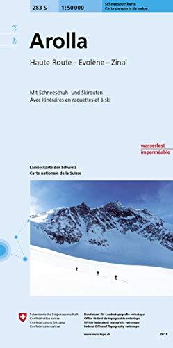 283S Arolla Carte de sports de neige: Haute Route - Evolène - Zinal: Haute Route - Evoléne - Zinal. Avec itinéraires de ski et de snowboard (Skitourenkarten 1:50 000)