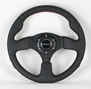 momo steering wheel red stitching