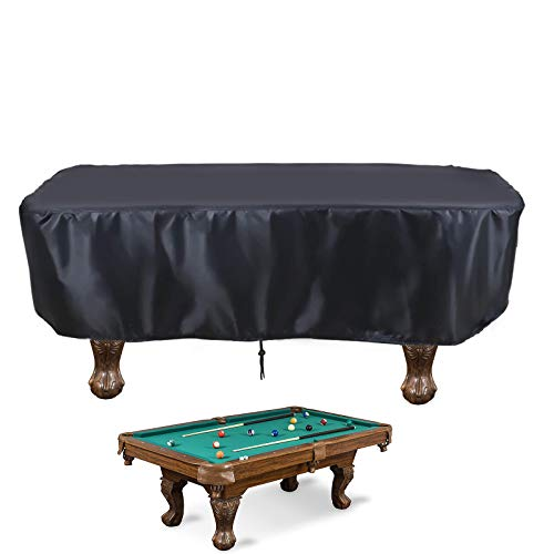 """Aidetech 8 FT Indoor & Outdoor Billiard Pool Table Cover with Drawstring (8ft: 102"""" x 53'' x 32"""")"""