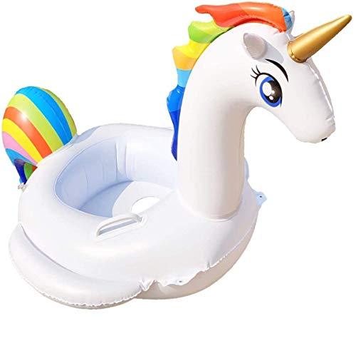 AuRiver Unicorno Gonfiabile Piscina, Salvagente Unicorno con Ali Materassino Gonfiabile di Piscina Bambini Piscina Gonfiabile Piscina Giocattolo Unicorno Bambino Anello di Nuoto