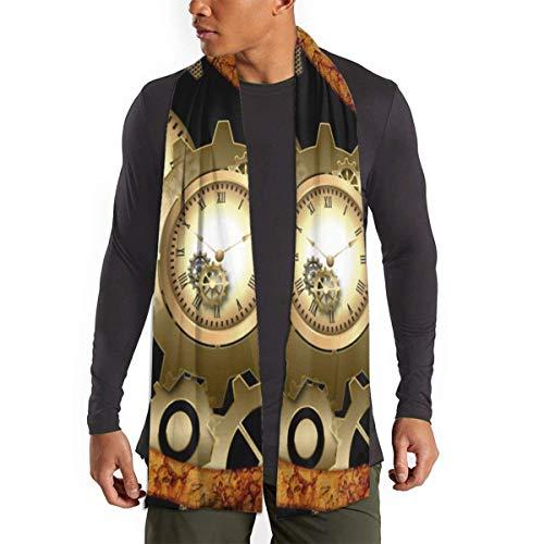 gong Rusty Steampunk relojes Vintage Gears bufanda para mujeres hombres ligero Unisex moda suave invierno bufandas chal envuelve