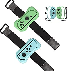 Accessories Set for Nintendo Switch Controller Game: 2 Wrist Strap and 2 Boxing Grip Compatible with Nintendo Switch. The wrist strap is used for the most popular dance game for Nintendo Switch Just Dance of any generation and for Zumba Burn It Up. T...