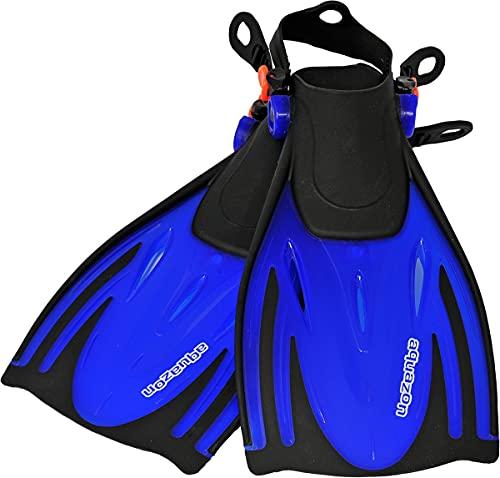 AQUAZON Aletas para niños Alicante, Aletas para bucear Ajustables, Ideales para bucear con esnórquel, bucear o como Aletas de natación, Aletas para bucear con esnórquel, Colour:Blue, Size:27/31