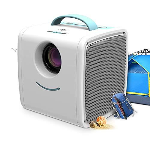 GMACCE Proyector, 1080p proyector de vídeo Compatible con 1080P-50.000 Hora LED Full HD Mini proyector, Compatible con Amazon Fire TV Stick, HDMI, VGA, USB, AV, SD para Cine en casa